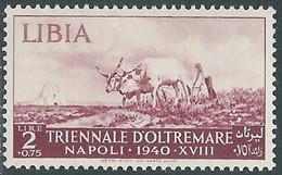 1940 LIBIA TRIENNALE D'OLTREMARE 2 LIRE MNH ** - RE22-4 - Libia