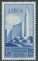 1940 LIBIA TRIENNALE D'OLTREMARE 1,25 LIRE MNH ** - RE22-4 - Libia