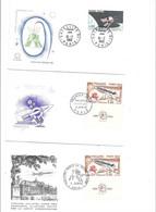 Lot De 11 Enveloppes Premier Jour Thème  ESPACE,SATELLITE, - 1960-1969