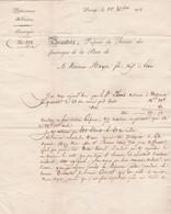 1832 STENAY - SUBSISTANCE Mres - BRANDEIS, Service Des Fourrages à M. MOYSE Fils, Négociant à ETAIN - Documenti Storici