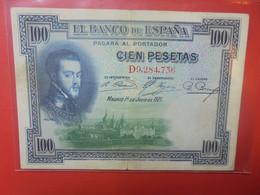 ESPAGNE 100 PESETAS 1925 Circuler(B.23) - 100 Pesetas