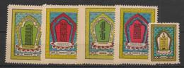 Mongolia - 1959 - N°Yv. 149A à 149E - Série Complète - Neuf Luxe ** / MNH / Postfrisch - Mongolia