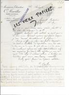 71 - Saoône-et-loire - PARAY-LE-MONIAL - Facture MARILLER - Menuiserie, ébénisterie - 1919 - REF 189C - 1900 – 1949