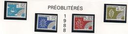 Série Complète De Préoblitérés 1988 - Les Quatre éléments - 4 Valeurs - 1989-....