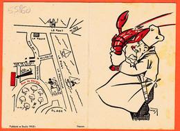 VaG043 ♥️ Rare LE POULIGUEN (44) Menu Restaurant LES INTIM'S Près LA BAULE Spécialité Homard C.D.V Illustra Henry WIE'S - Le Pouliguen