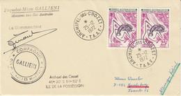 TAAF 1972 Registered Cover Ca Archipel Crozet 25/12/1972 Signature Cdt Gallieni (52135) - Cartas