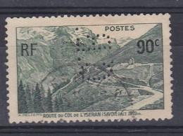 Perforé Perfin Lochung : Perforation C.B. 33 Cie De Béthune Noeux Les Mines Sur Yvert 358 Col De Liseran - Gezähnt (Perforiert/Gezähnt)