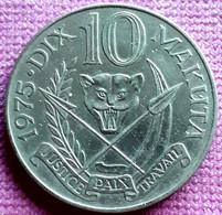 ZAÏRE/  10 MAKUTA 1973 KM 7 - Zaire (1971-97)