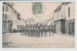 JANVILLE - EURE ET LOIR - PASSAGE  DU 1ER REGIMENT DE CHASSEURS - Other Municipalities