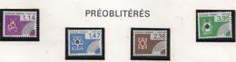Série Complète De Préoblitérés 1984 - Les Couleurs Aux Cartes - 4 Valeurs - 1989-....