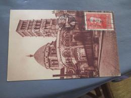 Timbre Anatole France 40 Plus 10 C Seul Sur Lettre Chomeurs Intellectuels - 1921-1960: Modern Period