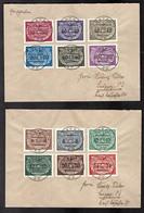 GG., Mi.-Nr . D 1-15  Auf 4 Briefe - Ocupación 1938 – 45