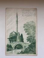 Tirana Tirane 2082 Albanien 1917 K.U.K. Etappenpostamt Mosque Moschee Weihnachts Und Neujahrsgrusse - Albanien