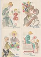 Illustrateur  : Barre-Dayez : Lot De 4 Cartes 1464 ABCD - Otros Ilustradores