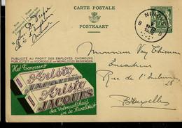 Publibel Obl. N° 201  ( Chocolat JACQUES - Aristo - Lait Ou Fondant ) Obl. NINOVE  - B B - Du 01/05/1936 - Publibels