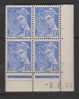 Mercure: Postes Françaises 10c Bleu - 1940-1949