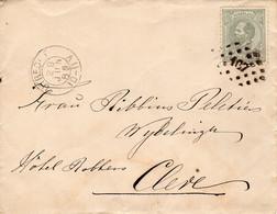 29 JUN 89  Kleinrond UTRECHT En Puntstempel 107  Op NVPH 21 Op Envelopje Naar CLEVE - Postal History