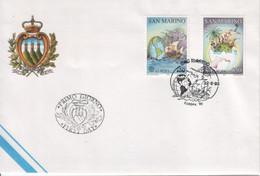 """San Marino 1992 - FDC Ufficiale """"Europa"""" S. Cpl 2v (rif. 1351/52 Cat. Unificato) - FDC"""