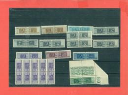 PACCHI POSTALI FILIGRANA RUOTA -1946 - LOTTO DI 20 PEZZI VARI- GOMMA INTEGRA - BUONA QUALITA CATALOGO € 500 C.A.- - Colis-postaux
