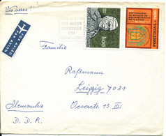 Portugal Cover Sent Air Mail To Germany DDR 1970 - Covers & Documents