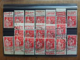 FRANCIA Anni '30 - Pace Con Vignette Pubblicitarie - Timbrati + Spese Postali - Usados