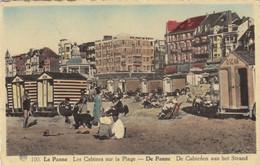 De Panne Cabienen Aan Het Strand - La Panne Cabines De Plage - Ancienne Carte Postale - De Panne