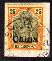 DP China 19, 25 Pf. Auf Schönem Briefstück M. Stpl. SHANGHAI A. - Offices: China