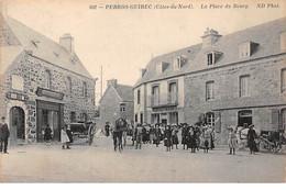 PERROS GUIREC - La Place Du Bourg - Très Bon état - Perros-Guirec
