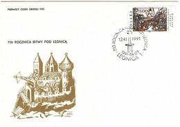 Poland FDC 1991 Mi 3318 750th Anniversary Of The Battle Of Legnica - FDC