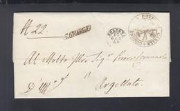 Italien Italia Faltbrief 1848 S. Giorgio San Pietro In Casale - ...-1850 Voorfilatelie