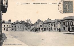 GRANDPRE - Guerre 1914 18 - Le Bas De La Place - Très Bon état - Sonstige Gemeinden