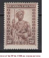 1931. Rwanda. COB N° 106 **, MNH. Cote 2018 : 8 € - 1924-44: Mint/hinged