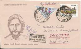 India Registered Cover Sent To Denmark 24-2-1990 - Brieven En Documenten