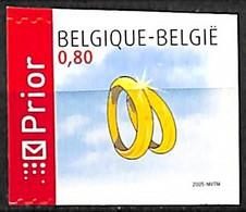 [154564]TB//**/Mnh-Belgique 2005 - N° 3403, Timbre De Circonstance, Mariage, ND à Gauche, Bague, Permanent, Fêtes, Adhés - Neufs