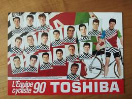 Cyclisme - Carte Publicitaire 1990 : TOSHIBA - Ciclismo