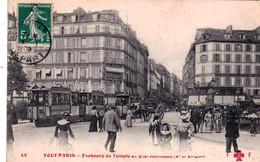 75 - PARIS 10 - Faubourg Du Temple Au Quai Jemmapes - Tramway - Paris (10)