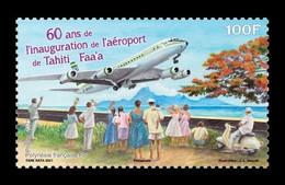 French Polynesia 2021 Mih. 1458 Aviation. Faa'a International Airport. Plane MNH ** - Ongebruikt