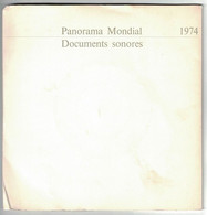 2 DISQUES  PUBLICITAIRE RTL PANORAMA MONDIAL DOCUMENTS SONORES 1974 PRESIDENT GEORGES POMPIDOU GISGARD D'ETAING - Formati Speciali
