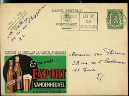 Publibel Obl. N° 260  ( Bier - Bière: EXPORT  VANDENHEUVEL ) Obl. Bxl 1937 - Publibels