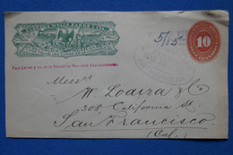 T11 MEXICO BELLE LETTRE DEVANT 1919 EXPRESS WELLS POUR SAN FRANCISCO USA+AFFRANCHISSEMENT INTERESSANT - Mexico