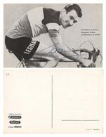 CARTE CYCLISME GIORGIO ALBANI SIGNEE TEAM LEGNANO 1956 - Ciclismo