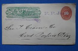 T11 MEXICO BELLE LETTRE DEVANT 1919 EXPRESS WELLS + GRIFFE +AFFRANCHISSEMENT INTERESSANT - Mexico
