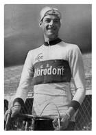 CARTE CYCLISME FRANCO AUREGGI SIGNEE TEAM LEO CHLORODONT  1956 - Ciclismo