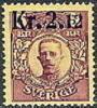 ZWEDEN 1917-18 Opdruk 2,12/5kr Karmijn Gustav V PF-MNH-NEUF - Neufs