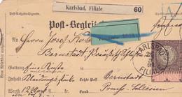 Austria Österreich AUTRICHE  -1891 Postbegeleited 5 Kr Karlsbad - Storia Postale