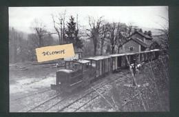 Tacot Pontarlier- Besançon - Le Tacot En Gare De Cléron En 1951  Reproduction - Autres Communes