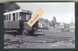 Ligne Morteau-Trévillers  Autorail De Dion Bouton à Trévillers Années 40  Reproduction - Autres Communes