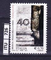 ITALIA REPUBBLICA     2014, Piazza Della Loggia Brescia, Usato - 2011-...: Used