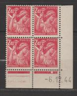 Iris : 2.40f Rose Carminé - 1940-1949