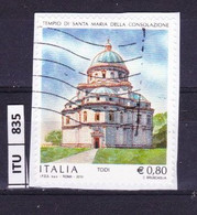 ITALIA REPUBBLICA   2015, Tempio S. Maria Della Consolazione, Usato - 2011-...: Used